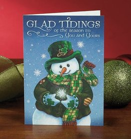 "HOLIDAY 'GLAD TIDINGS"" SNOWMAN CHRISTMAS CARD PACK"