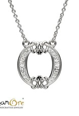 PENDANTS & NECKLACES CLEARANCE - SHANORE STERLING INITIAL PENDANT with SWAROVSKI CRYSTALS: O - FINAL SALE