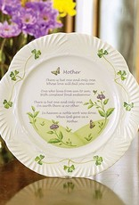PLATES, TRAYS & DISHES BELLEEK HARP MOTHER'S BLESSING PLATE
