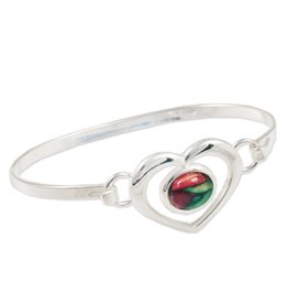 BRACELETS & BANGLES HEATHERGEM HEART BANGLE BRACELET