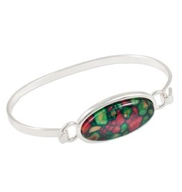 BRACELETS & BANGLES HEATHERGEM LARGE OVAL BANGLE