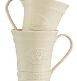 GIFTWARE SET OF 2 BELLEEK CLADDAGH MUGS