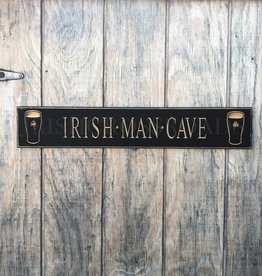 "PLAQUES, SIGNS & POSTERS PINT ""IRISH MAN CAVE"" CARVED WOOD SIGN"