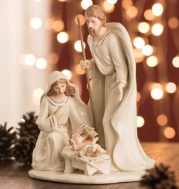 RELIGIOUS BELLEEK LIVING NATIVITY FAMILY - LARGE