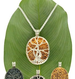 PENDANTS & NECKLACES KEITH JACK STERLING & 22K TREE OF LIFE 4-IN-1 PENDANT