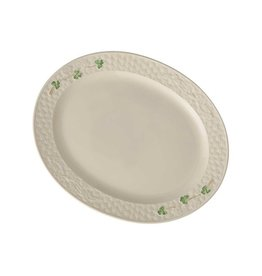 KITCHEN & ACCESSORIES BELLEEK SHAMROCK LARGE OVAL PLATTER