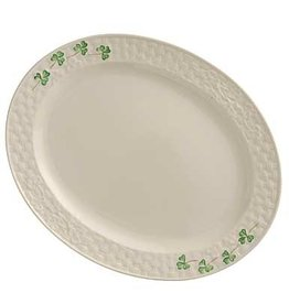KITCHEN & ACCESSORIES BELLEEK SHAMROCK SMALL OVAL PLATTER