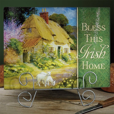 "KITCHEN & ACCESSORIES ""BLESS THIS IRISH HOME"" CUTTING BOARD"