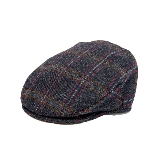 6080c77f87db8 VINTAGE CHECK CAP- BLUE - Irish Crossroads