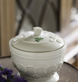 LIMITED EDITION BELLEEK CELTIC LACE TRINKET BOX