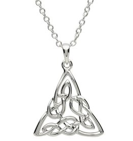 PENDANTS & NECKLACES PlatinumWare CELTIC INTRICATE TRINITY PENDANT