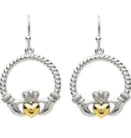 EARRINGS PlatinumWare CLADDAGH EARRINGS WITH TWIST HEART