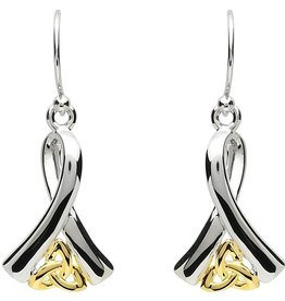 EARRINGS PlatinumWare CELTIC RIBBON OF LIFE EARRINGS