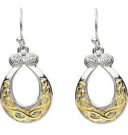 EARRINGS PlatinumWare GOLD PLATE CELTIC KNOT EARRINGS
