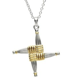 CROSSES PlatinumWare LARGE ST. BRIGID CROSS PENDANT