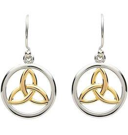 EARRINGS PlatinumWare CELTIC TRINITY GOLD PLATE EARRINGS