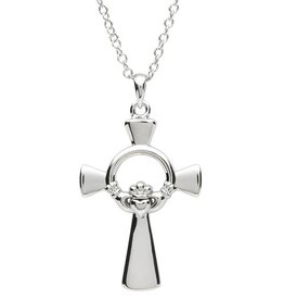 CROSSES PlatinumWare CLADDAGH CELTIC CROSS