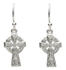 EARRINGS PlatinumWare SMALL CELTIC CROSS EARRINGS