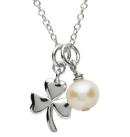 PENDANTS & NECKLACES PlatinumWare SHAMROCK & PEARL PENDANT