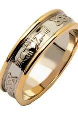 RINGS FADO LADIES TWO TONE CORRIB CLADDAGH WEDDING RING