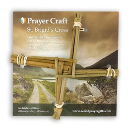 RELIGIOUS REED ORIGINAL CARDED ST. BRIGID CROSS - 6""