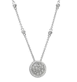 PENDANTS & NECKLACES CLEARANCE - SIGNATURE 925 - HALO CLUSTER PENDANT with SWAROVSKI CRYSTALS - FINAL SALE