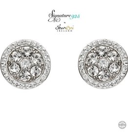 EARRINGS CLEARANCE - SIGNATURE 925 - HALO CLUSTER EARRINGS with SWAROVSKI CRYSTALS - FINAL SALE