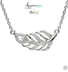 PENDANTS & NECKLACES CLEARANCE - SIGNATURE 925 - LEAF NECKLACE with SWAROVSKI CRYSTALS - FINAL SALE