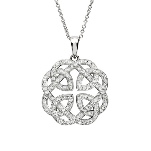 PENDANTS & NECKLACES SHANORE STERLING CELTIC PENDANT with SWAROVSKI CRYSTALS