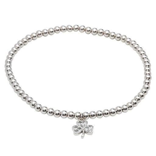 Bracelets Bangles Shanore Sterling Swarovski Crystal Shamrock Charm Bracelet