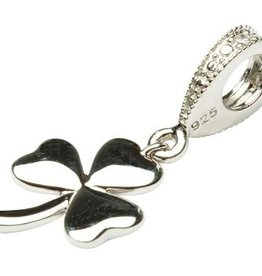 BEADS CLEARANCE - TARA'S DIARY DIAMOND DANGLE SHAMROCK BEAD - FINAL SALE