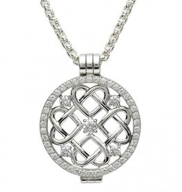 PENDANTS & NECKLACES CLEARANCE - STERLING SILVER EXPRESSIONS CELTIC HEART CZ COIN - FINAL SALE