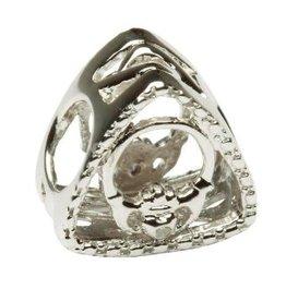 BEADS CLEARANCE - TARA'S DIARY DIAMOND CLADDAGH TRIANGLE BEAD - FINAL SALE