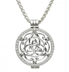 PENDANTS & NECKLACES STERLING SILVER EXPRESSIONS TRINITY PASSION COIN