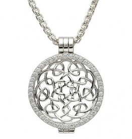 PENDANTS & NECKLACES CLEARANCE - STERLING SILVER EXPRESSIONS WARRIOR WEAVE KNOT COIN - FINAL SALE