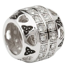 BEADS CLEARANCE - ORIGINS SOLID TRINITY BEAD with SWAROVSKI CRYSTAL - FINAL SALE