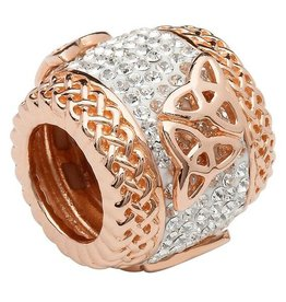 BEADS CLEARANCE - ORIGINS ROSE GOLD TRINITY BEAD with SWAROVSKI CRYSTAL - FINAL SALE