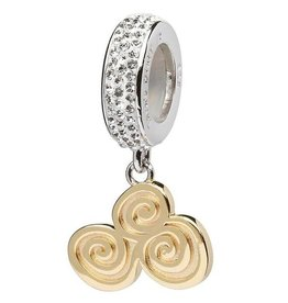 BEADS CLEARANCE - ORIGINS GOLD PLATE CELTIC BEAD with SWAROVSKI CRYSTAL - FINAL SALE