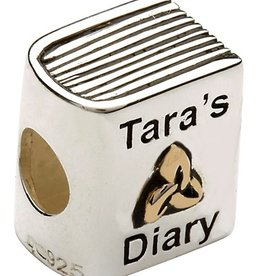 BEADS CLEARANCE - TARA'S DIARY 14K GOLD PLATE DIARY BEAD - FINAL SALE