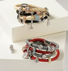 BRACELETS & BANGLES CLEARANCE - ORIGINS DOUBLE LEATHER BRACELET - FINAL SALE