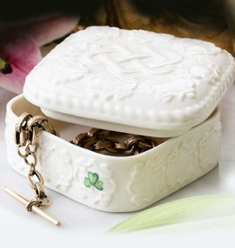 DECOR BELLEEK LOVE KNOT TRINKET BOX