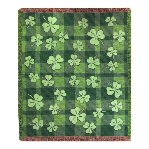 TAPESTRIES, THROWS, ETC. SHAMROCK THROW BLANKET