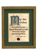 "PLAQUES & GIFTS ""IRISH KITCHEN PRAYER"" MANUSCRIPT 8x10 PLAQUE"