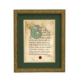 "PLAQUES, SIGNS & POSTERS ""SOMETHING BEAUTIFUL"" MANUSCRIPT 8X10 PLAQUE"