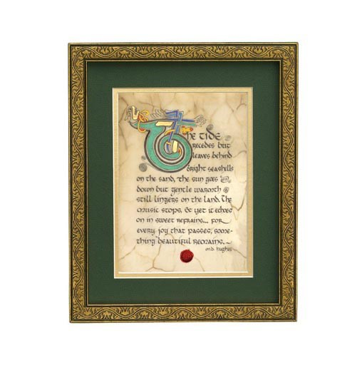 """PLAQUES, SIGNS & POSTERS """"SOMETHING BEAUTIFUL"""" MANUSCRIPT 8X10 PLAQUE"""