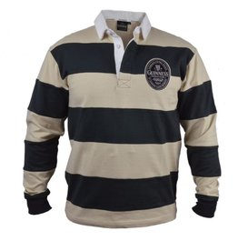 SPORTSWEAR GUINNESS CREAM & BLACK STRIPE RUGBY