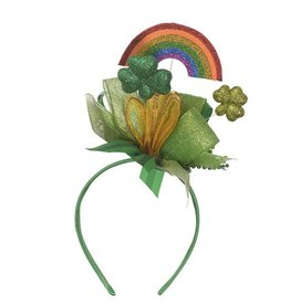 ST PATRICK'S DAY NOVELTY ST. PATRICKS DAY RAINBOW SPARKLY HEADBAND