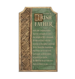 DECOR IRISH FATHER PLAQUE
