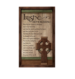 DECOR IRISH HOME BLESSING WALL PLAQUE
