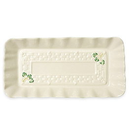 DECOR BELLEEK SHAMROCK TRAY